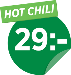 Hot chili 29 kr