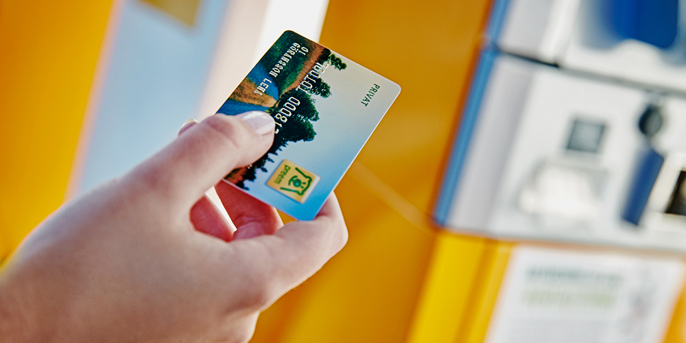Foretag valjer privatkort